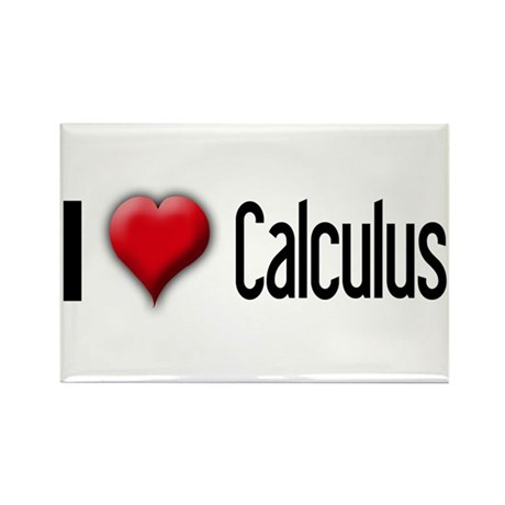 I Love (Heart) Calculus Rectangle Magnet (10 pack)