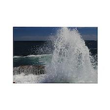 crashing waves Rectangle Magnet