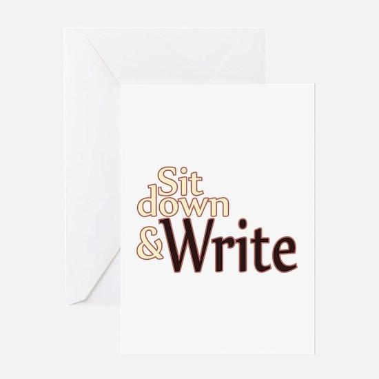 Sit Down Write Greeting Card