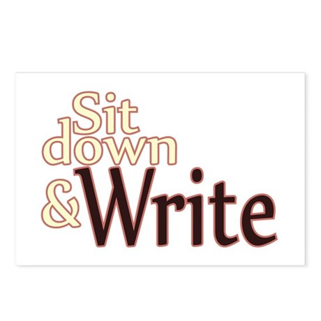 Sit Down Write Postcards (Package of 8)
