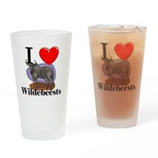 Wildebeests116415 Drinking Glass