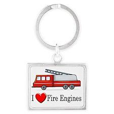 fireengine168 Landscape Keychain