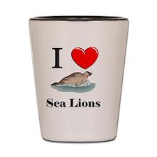 Sea-Lions60343 Shot Glass