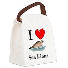 Sea-Lions60343 Canvas Lunch Bag