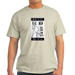 Real men Ash Grey T-Shirt