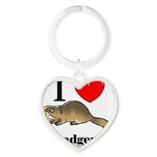 Badgers9628 Heart Keychain