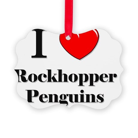 Rockhopper-Penguins10 Picture Ornament