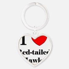 Red-tailed-Hawks5 Heart Keychain