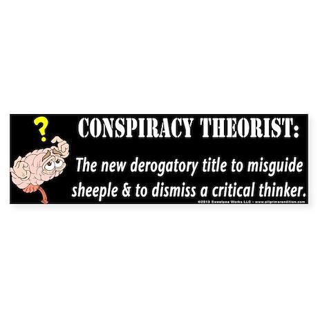 Conspiracy Brain Bumper Sticker