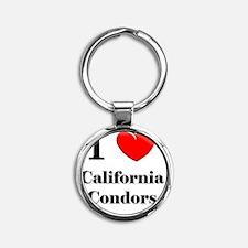 California-Condors78 Round Keychain