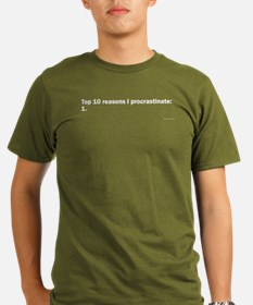 Procrastinate (Black) T-Shirt