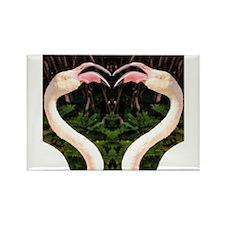 Flamingo Heart Rectangle Magnet
