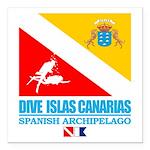 Dive Islas Canarias Square Car Magnet 3