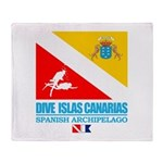 Dive Islas Canarias Throw Blanket