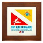 Dive Islas Canarias Framed Tile