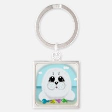 Baby Seal and fish (txt) Keychains