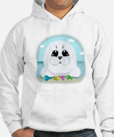 Baby Seal and fish (txt) Hoodie