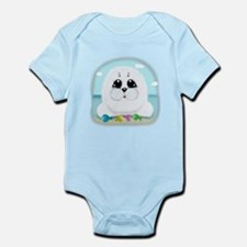 Baby Seal and fish (txt) Body Suit