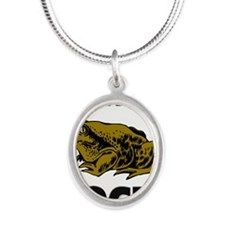 TOADS4331 Silver Oval Necklace