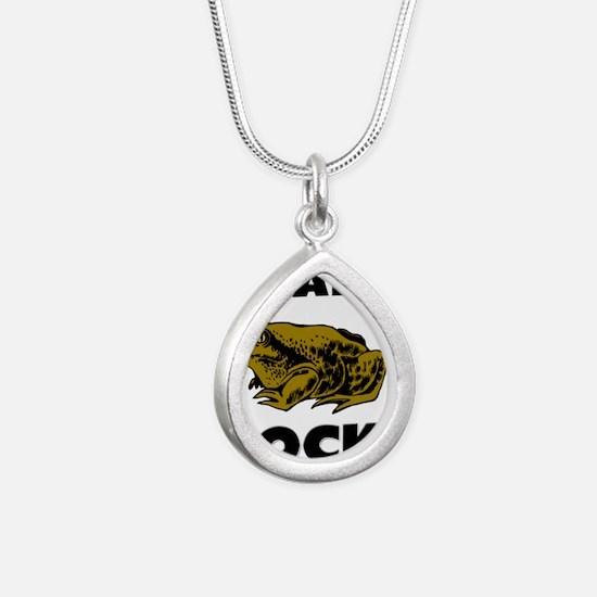 TOADS4331 Silver Teardrop Necklace
