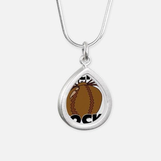 TICKS12236 Silver Teardrop Necklace