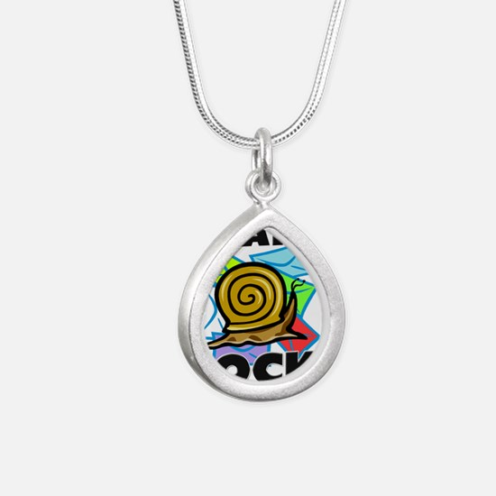 SNAILS5565 Silver Teardrop Necklace