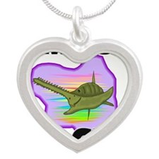 SAWFISH9485 Silver Heart Necklace