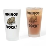 Rhino Pint Glasses
