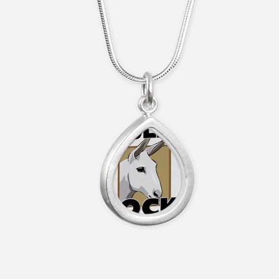 MULES72164 Silver Teardrop Necklace