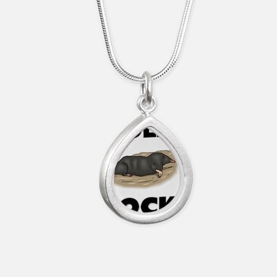 MOLES64174 Silver Teardrop Necklace