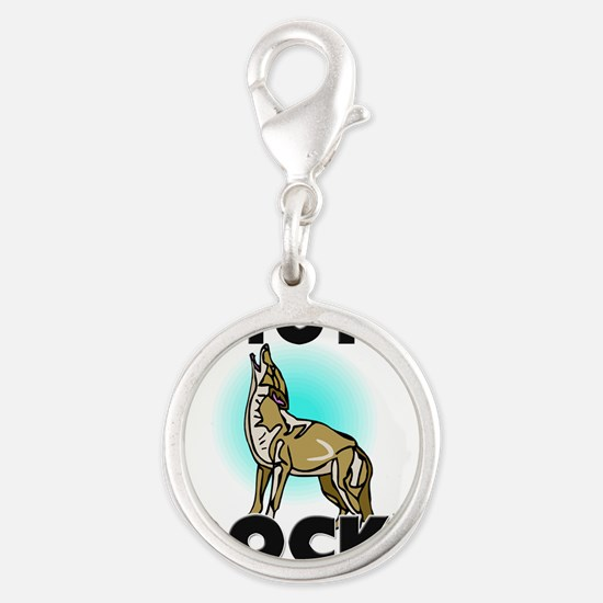 COYOTES81312 Silver Round Charm