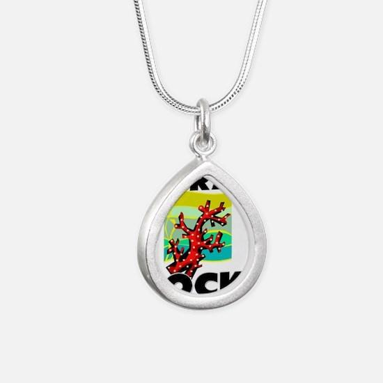CORAL55317 Silver Teardrop Necklace