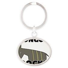 BONGOS99365 Oval Keychain