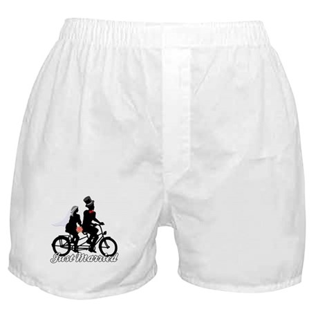 Just Married Cyclists Boxer Shorts