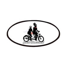 Just Married Cyclists Patches