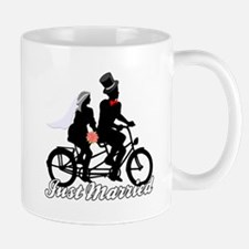 Just Married Cyclists Mug