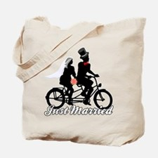 Just Married Cyclists Tote Bag