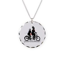 Just Married Cyclists Necklace