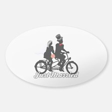Just Married Cyclists Decal