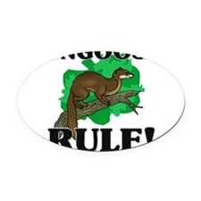 MONGOOSES147171 Oval Car Magnet