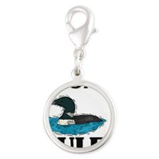 LOONS57194 Silver Round Charm