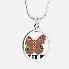MOTHS0166 Silver Round Necklace