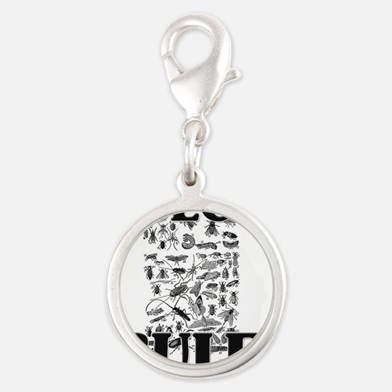 INSECTS125223 Silver Round Charm