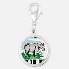 GOATS57258 Silver Round Charm