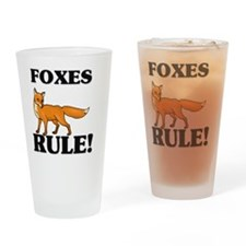 FOXES63271 Drinking Glass