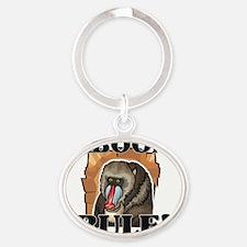 BABOONS118397 Oval Keychain