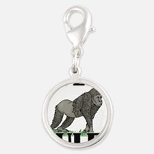 APES26408 Silver Round Charm