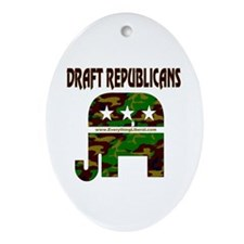 Draft Republicans Oval Ornament