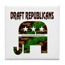 Draft Republicans Tile Coaster