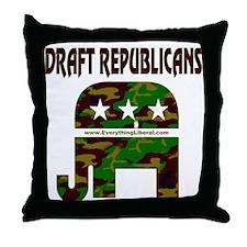 Draft Republicans Throw Pillow